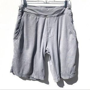 Vintage LULULEMON gray sweat SHORTS medium M liner